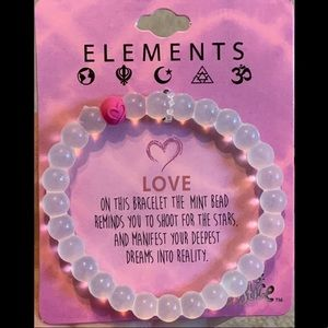 Justice Elements Beaded Silicone Bracelet Love